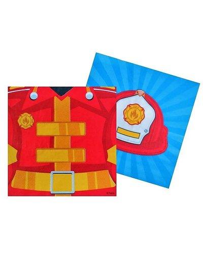 Magicoo Servietten mit Feuerwehr-Motiv  - 20 Stück