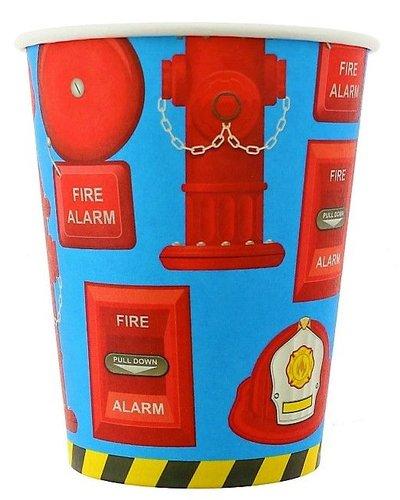 Partybecher mit Feuerwehr-Motiv- 6 Stück