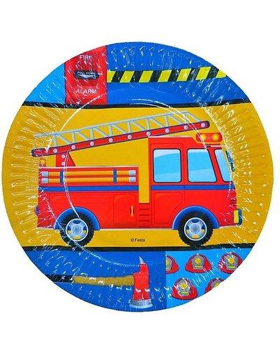 Partyteller mit Feuerwehr-Motiv - 6 Stück