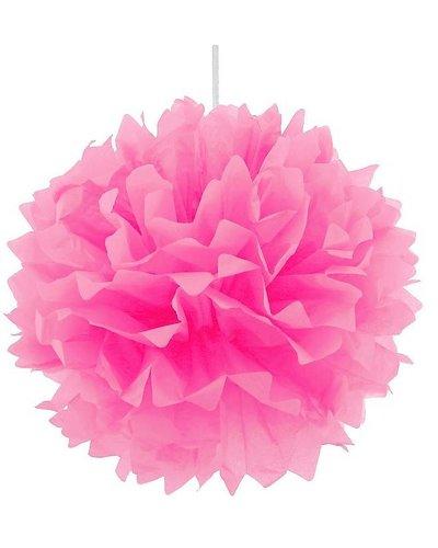 Pom Pom Dekoball rosa - 40 cm