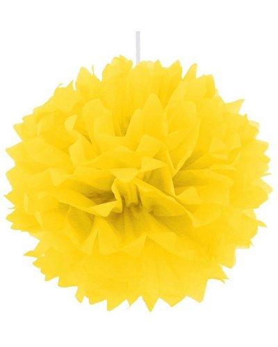 Pom Pom Dekoball gelb - 40 cm