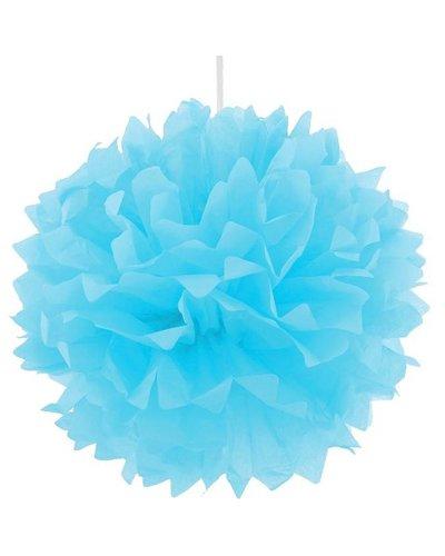 Pom Pom Dekoball blau - 40 cm