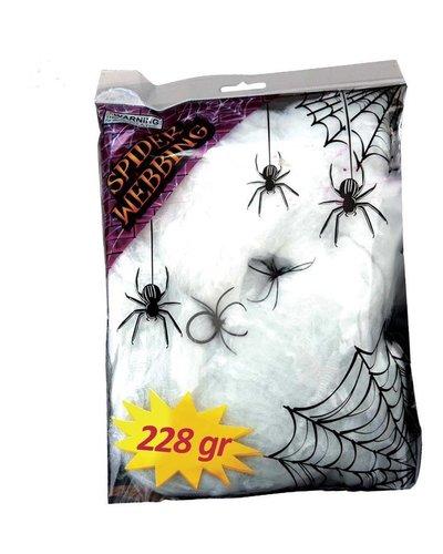 Künstliche Spinnenweben für Halloween-Dekoration