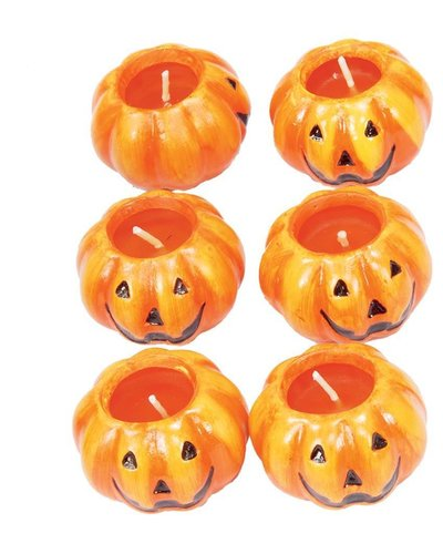 Magicoo Halloween Kerzen in Kürbisform - 6 Stück
