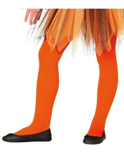 Orangene Strumpfhose für Kinder