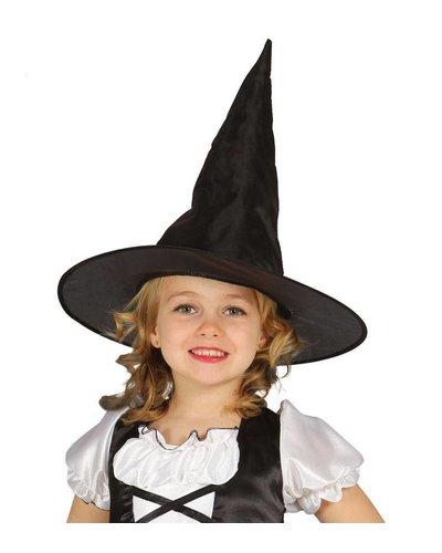 Schwarzer Hexenhut für Kinder