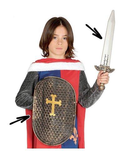 Mittelalterliches Ritterschwert und Schild
