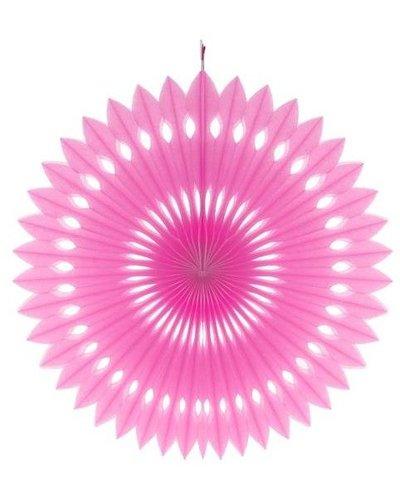 Papierfächer rosa - 40 cm