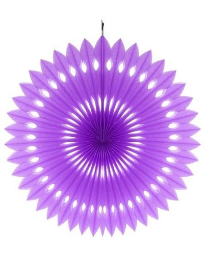 Papierfächer lila - 40 cm