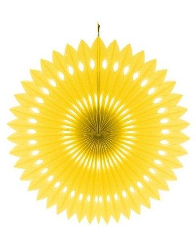 Papierfächer gelb - 40 cm