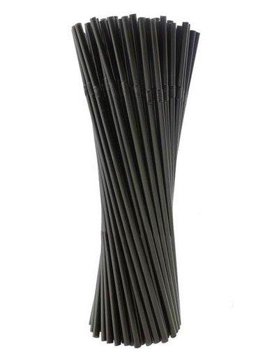 Strohhalme in Schwarz - 40 Stück