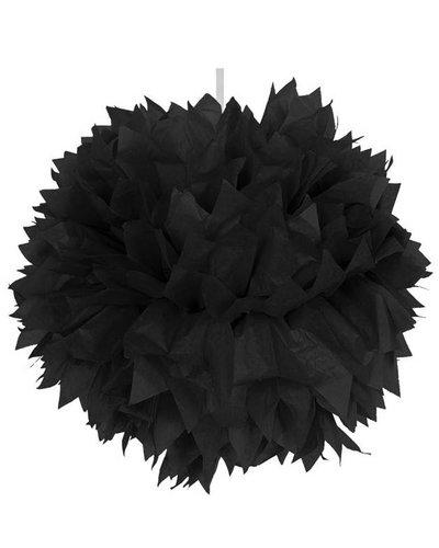 Pom Pom Dekoball schwarz - 30 cm