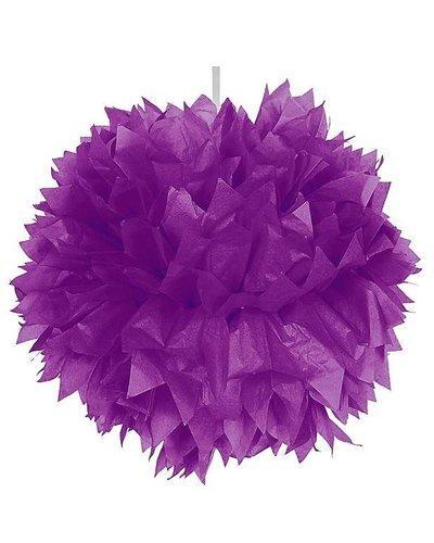 Pom Pom Dekoball lila - 30 cm
