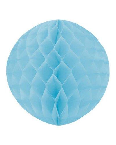 Party Wabenball blau Pastellfarbe  - 30 cm