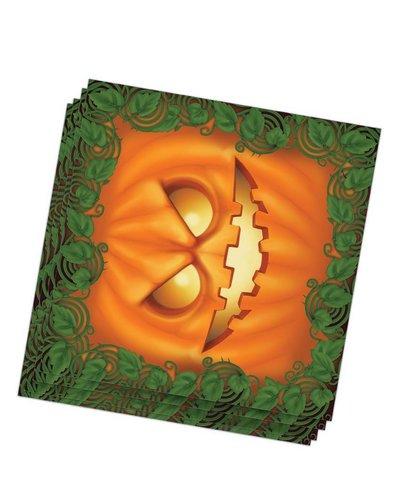 Magicoo Halloween Servietten mit Kürbis-Motiv grün-orange