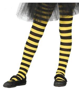 Magicoo Ringel-Strumpfhose für Kinder schwarz-gelb