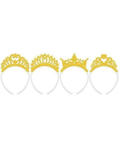 Kronen-Set in goldenen Farben - 4 Stück