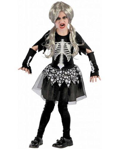 Magicoo Skelettlady - Skelett-Kostüm für Mädchen
