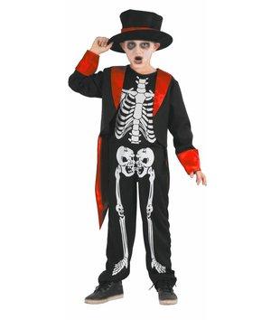 Der knochige Gentleman - Skelett Kinderkostüm mit Frack & Hut