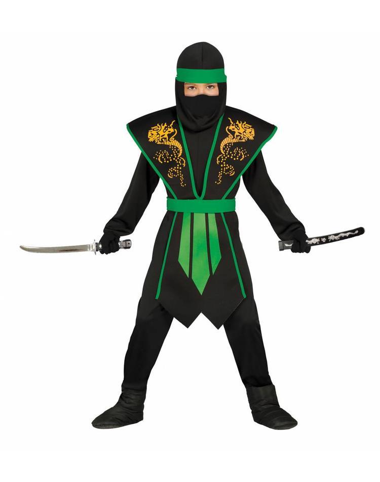 ninja kost m f r kind gr n schwarz magicoo