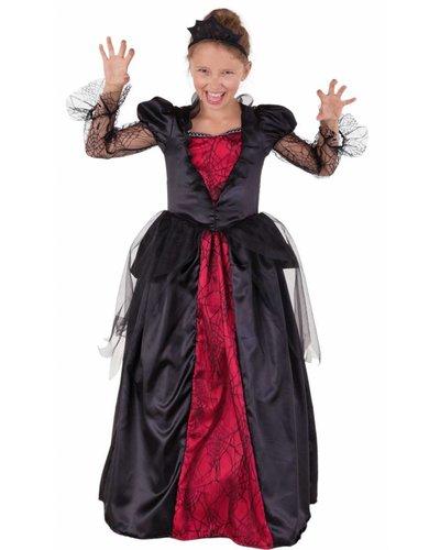 Magicoo Gotische Vampirin - Vampirkostüm für Mädchen inkl. Diadem