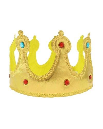 Magicoo Goldene Krone mit Steinen aus weichem Stoff