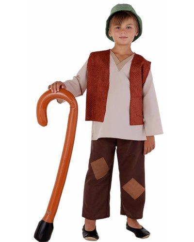 Magicoo Schäfer Kostüm für Jungen mit brauner Weste
