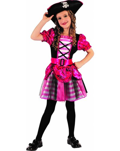 Magicoo Piratenmädchen - pinkes Piratin-Kostüm Mädchen