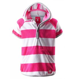 Reima Reima Barbados UV50+ short sleeve hoodie - pink & white - SALE!