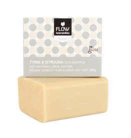 Flow Cosmetics Flow seabuckthorn & lemon himalayan salt soap