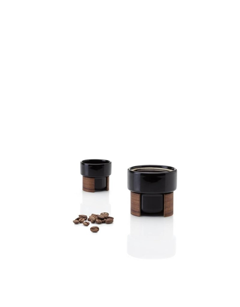 Tonfisk Tonfisk WARM 8cl Espresso Coffee Cup x 2 - black