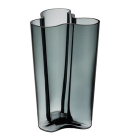Iittala Alvar Aalto Collection glass vase - 201mm dark grey