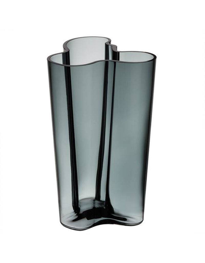 Iittala Alvar Aalto Collection glass vase - 201mm dark grey