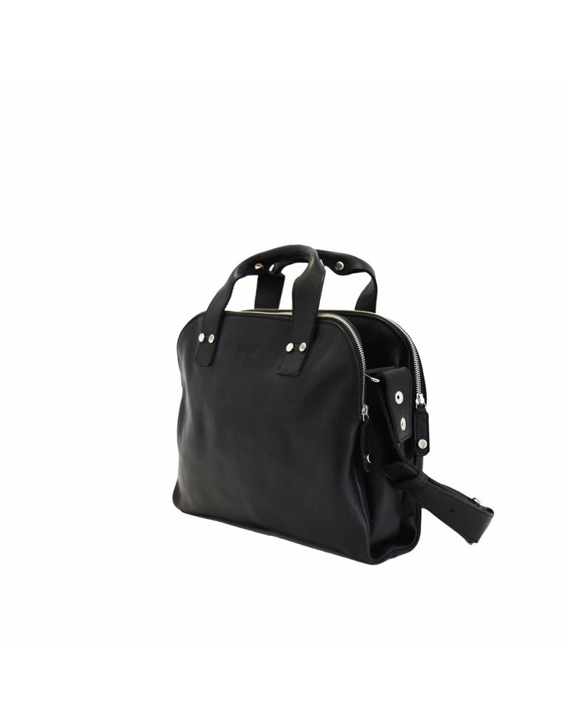 Lumi Accessories Johan Small Business Bag - black