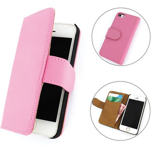 iPhone 5 / 5S Boek hoesje Classic Pink