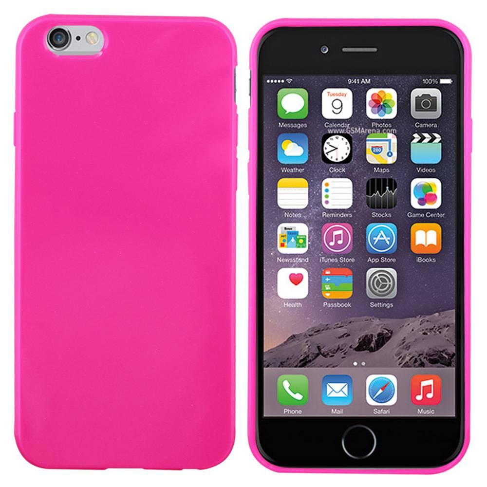 iPhone 6 hoesje Glanzend Roze TPU