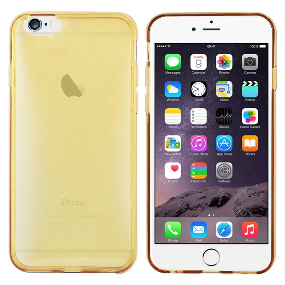 iPhone 6 hoesje Goud Transperant TPU