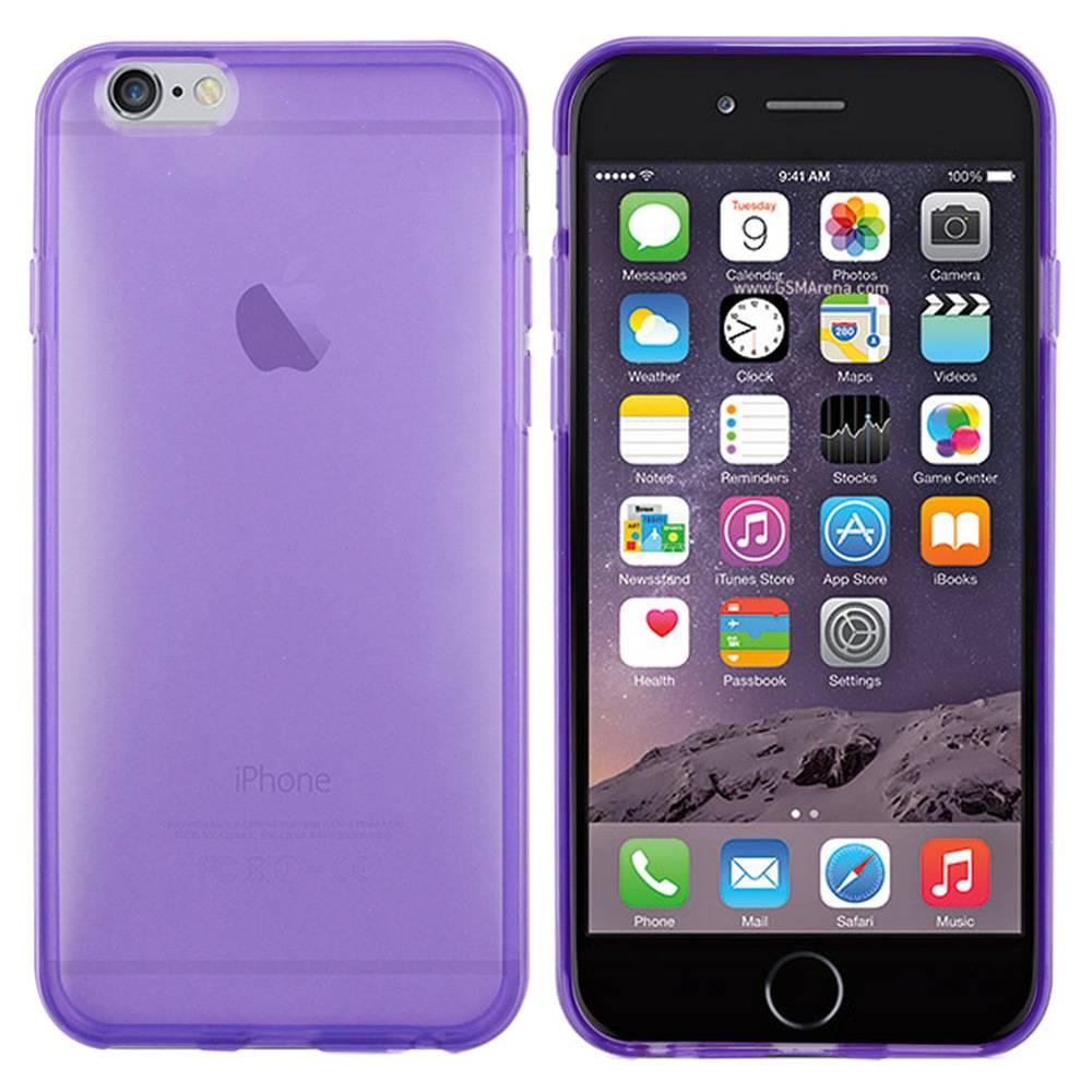 iPhone 6 hoesje Paars Doorzichtig TPU