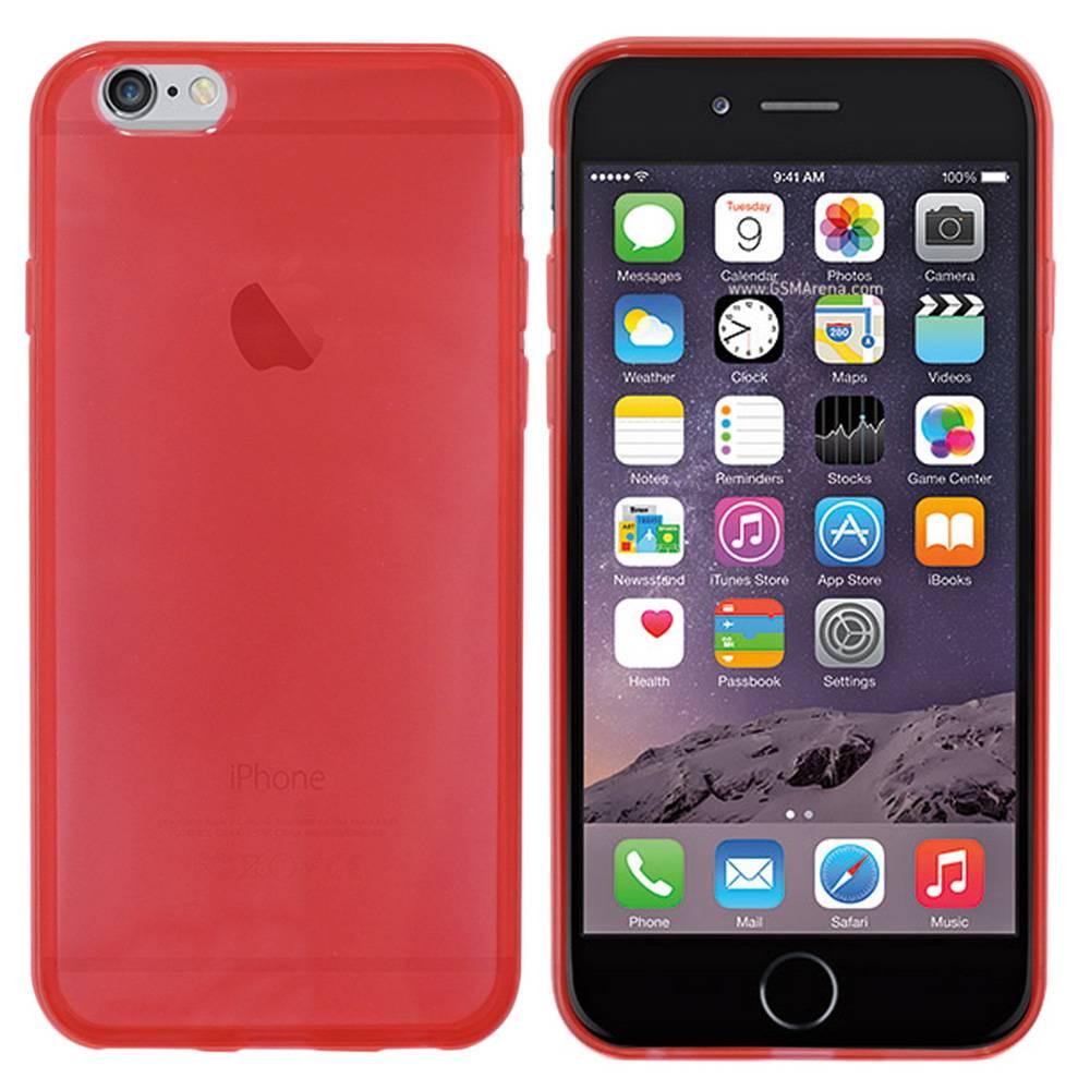iPhone 6 hoesje Rood Doorzichtig TPU