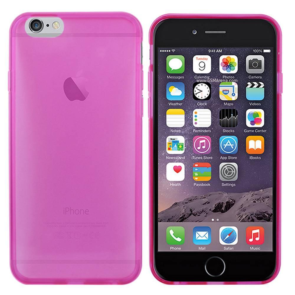 iPhone 6 hoesje Roze Doorzichtig TPU
