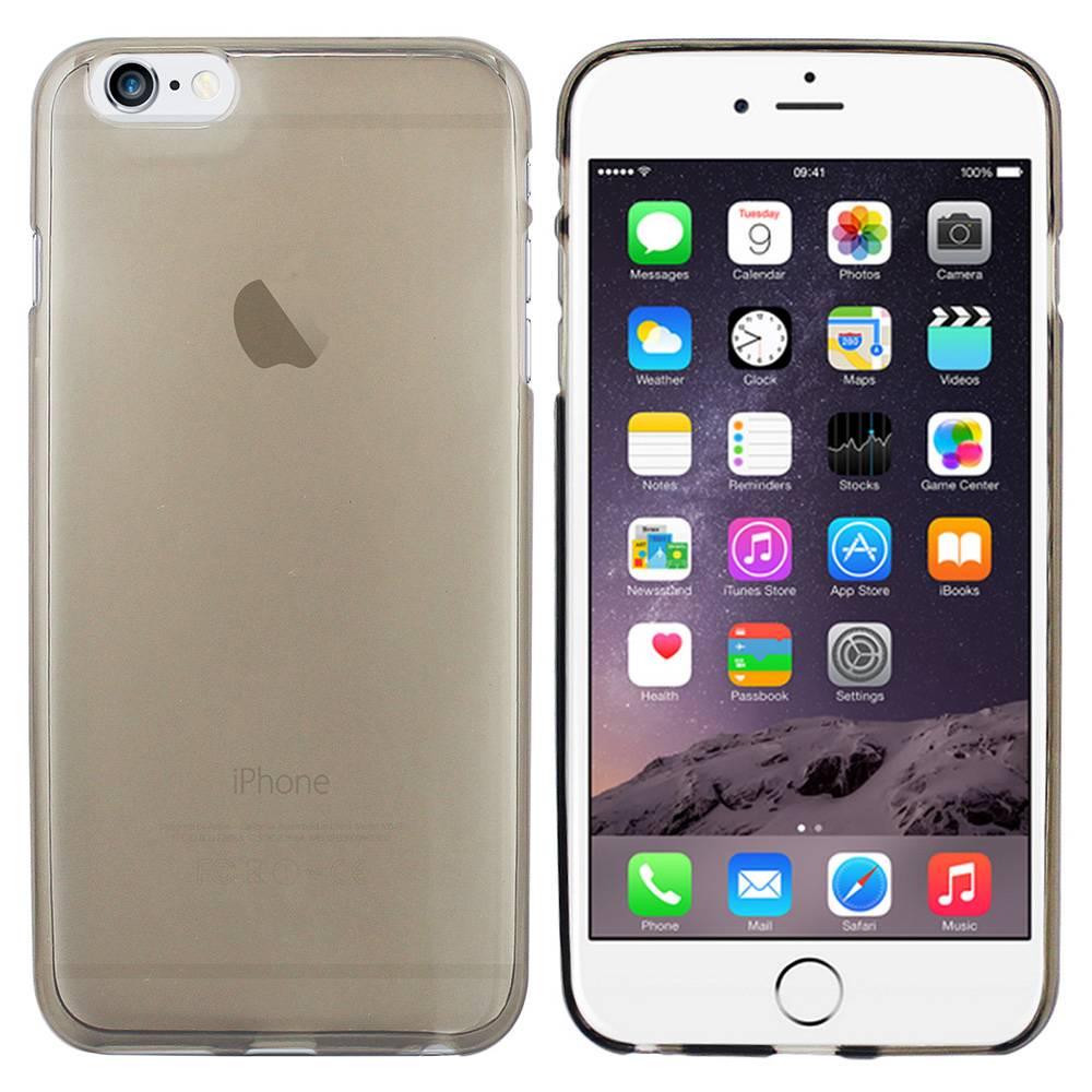 iPhone 6 hoesje Zwart Doorzichtig TPU