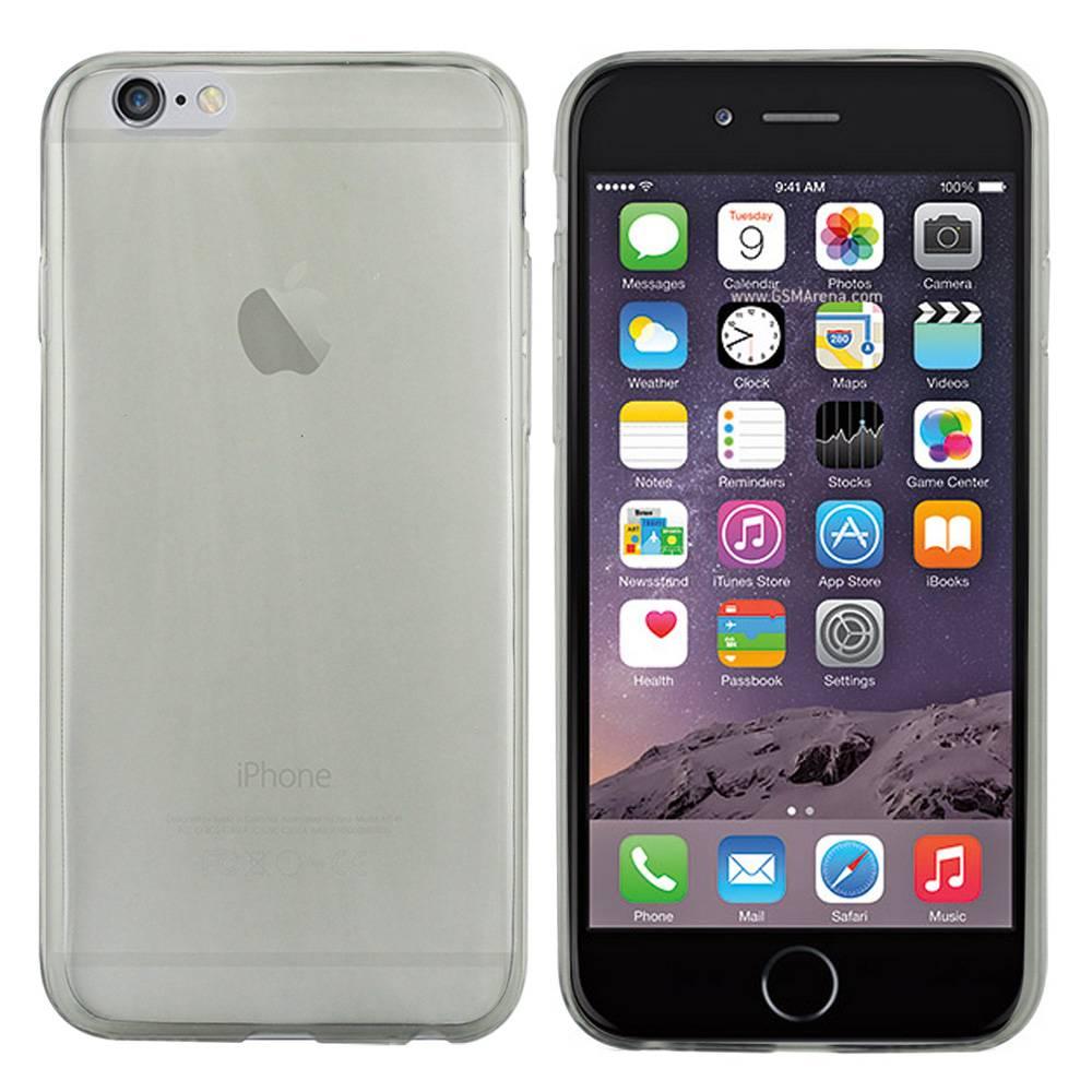 iPhone 6 hoesje Zwart Doorzichtig ll TPU