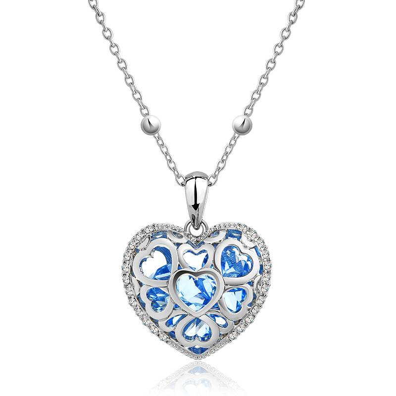 "Supercute Collier ""Love Of A womans Heart"" blauw"