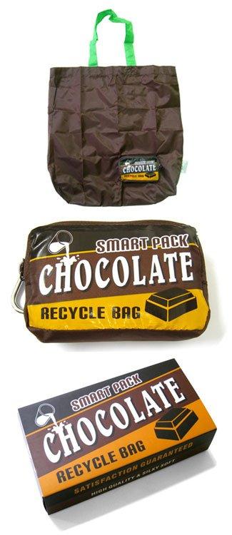 Boodschappentas in retro chocoladereep verpakking