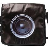 Present time Schoudertas met fotoprint box speaker
