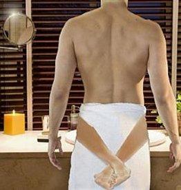 Ik laat je nooit meer gaan handdoek (benen)