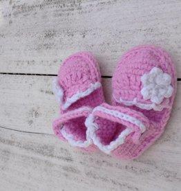 Gehaakte Roze Baby Espadrilles