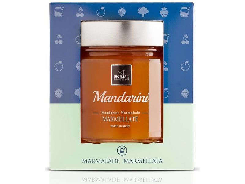 Mandarijnen marmelade, gemaakt van Siciliaanse mandarijnen
