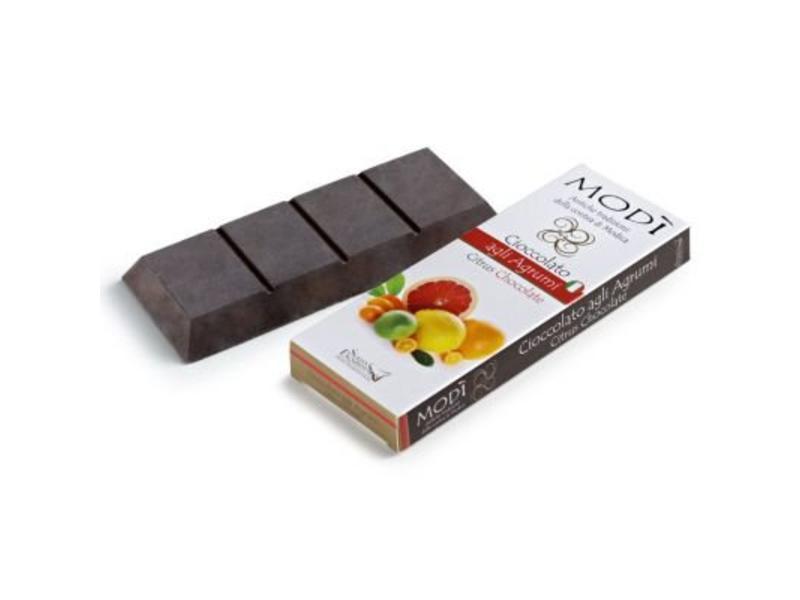 Chocolade uit Modica met  Citrusvruchten gemaakt volgens Azteekse methode in SiciliÇ®