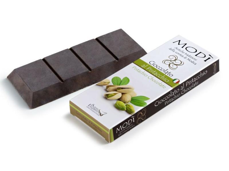 Chocolade uit Modica bereid met Siciliaanse bronte pistache